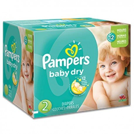 368 Couches Pampers Baby Dry taille 2 de Starckman
