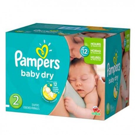 414 Couches Pampers Baby Dry taille 2 de Starckman