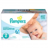 Couches Pampers New Baby Sensitive taille 2 - 300 couches