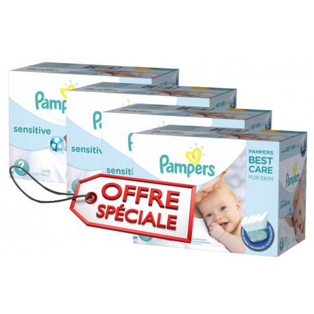 Couches Pampers New Baby Sensitive taille 2 - 420 couches de Starckman