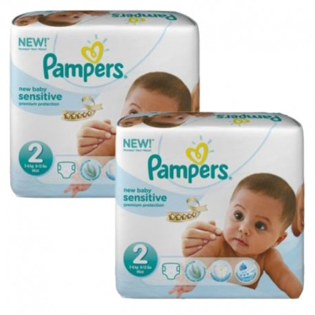 Couches Pampers New Baby Sensitive taille 2 - 480 couches de Starckman