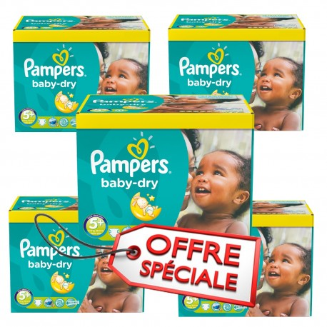 112 Couches Pampers Baby Dry taille 5+ de Starckman