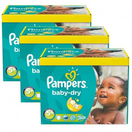 224 Couches Pampers Baby Dry taille 5+ de Starckman