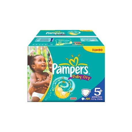 336 Couches Pampers Baby Dry taille 5+ de Starckman
