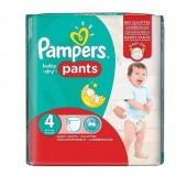Couches Pampers baby dry pants taille 4 - 16 couches bébé
