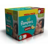 192 Couches Pampers Baby Dry Pants taille 5