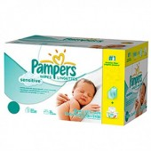 Giga pack 224 Lingettes Bébés Pampers New Baby Sensitive sur auchan
