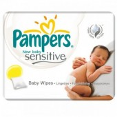 392 Lingettes Bébés de Pampers New Baby Sensitive sur auchan