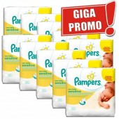 672 Lingettes Bébés de Pampers New Baby Sensitive sur auchan