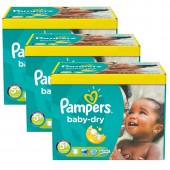 Giga pack 224 Couches Pampers de Baby Dry sur auchan