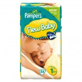 56 Couches Pampers New Baby Premium Protection taille 1