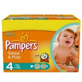150 Couches Pampers Sleep & Play taille 4