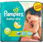Pack de 38 Couches Pampers de Baby Dry sur auchan
