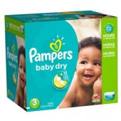 Couches Pampers baby dry taille 3 - 266 couches bébé