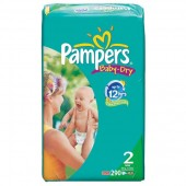 Maxi Pack de 290 Couches de Pampers Baby Dry sur choupinet